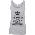 NEVER UNDER UNDERESTIMATE THE POWER OF A WOMAN THAT IS BORN AGAIN Tank Top