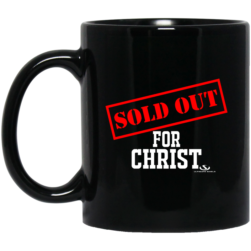 SOLD OUT FOR CHRIST 11 oz. Black Mug