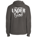 ONE NATION UNDER GOD Fleece Pullover Hoodie