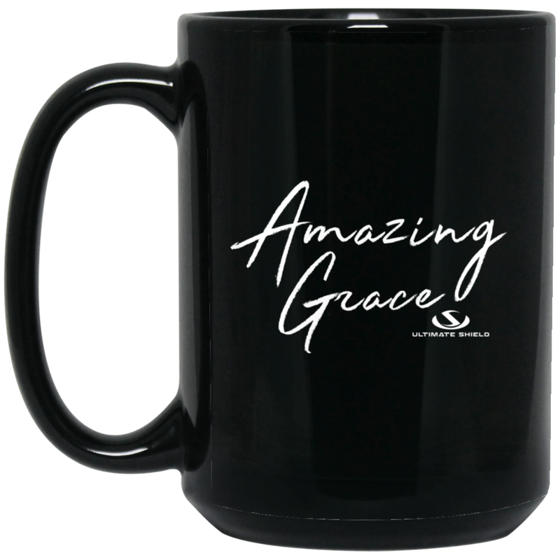 AMAZING GRACE 15 oz. Black Mug