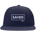 SAVED Flat Bill High-Profile Snapback Hat