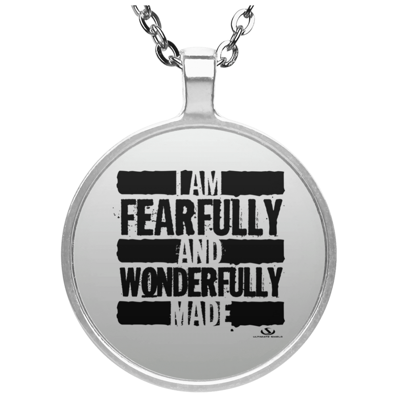 I AM FEARFULLY AND WONDERFULLY MADE Circle Necklace