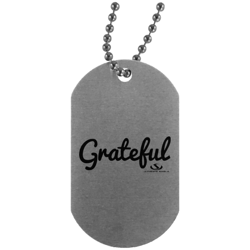 GRATEFUL Silver Dog Tag