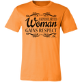 A KINDHEARTED WOMAN GAINS RESPECT BLACK PRINT Unisex Jersey Short-Sleeve T-Shirt