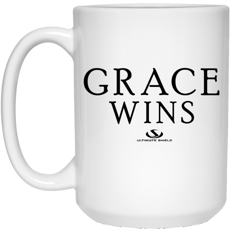 GRACE WINS 15 oz. White Mug
