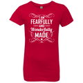 I AM FEARFULLY AND WONDERFULLY MADE Girls' Princess T-Shirt