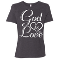 GOD IS LOVE Ladies' Relaxed Jersey Short-Sleeve T-Shirt