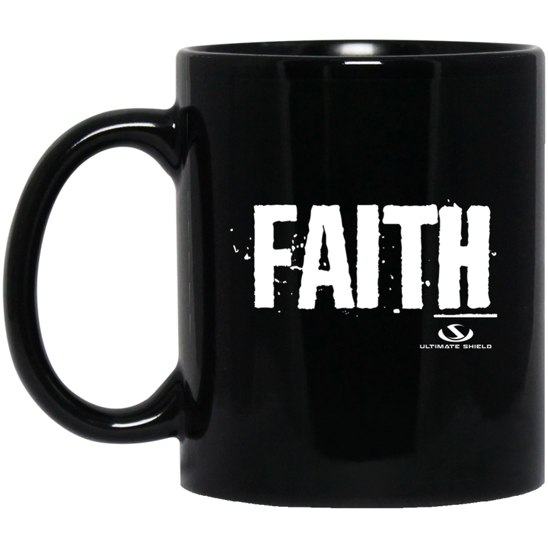 FAITH 11 oz. Black Mug