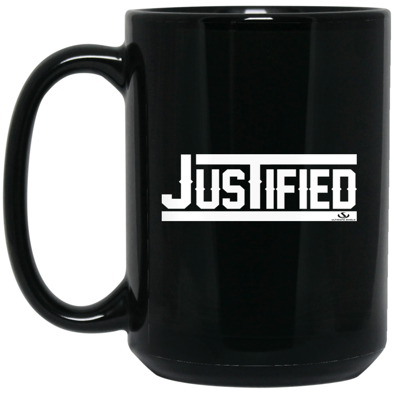 JUSTIFIED 15 oz. Black Mug