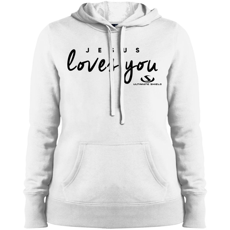 JESUS LOVES YOU Ladies' Pullover Hooded Sweatshirt