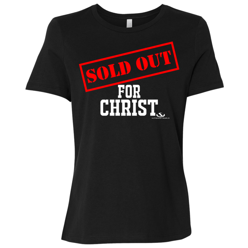 SOLD OUT FOR CHRIST Ladies' Relaxed Jersey Short-Sleeve T-Shirt