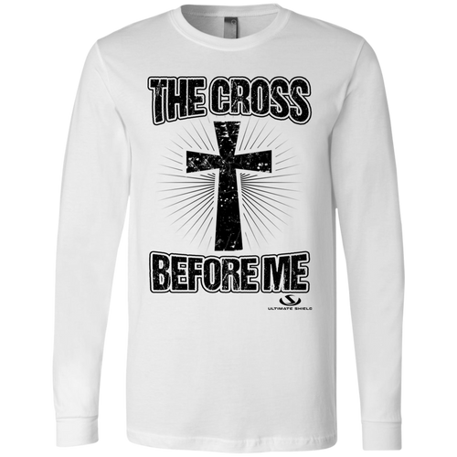THE CROSS BEFORE ME Men's Jersey LS T-Shirt