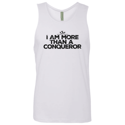 I AM MORE THAN A CONQUEROR Men's Cotton Tank
