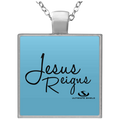 JESUS REIGNS Square Necklace