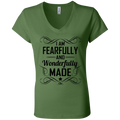 I AM FEARFULLY AND WONDERFULLY MADE Ladies' Jersey V-Neck T-Shirt