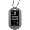 CHRIST Silver Dog Tag