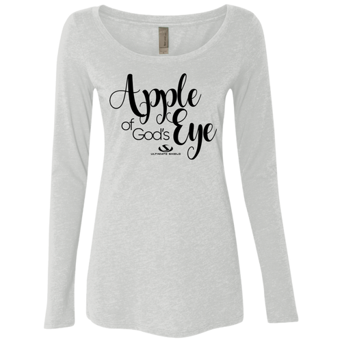 APPLE OF GOD'S EYE Ladies' Triblend LS Scoop