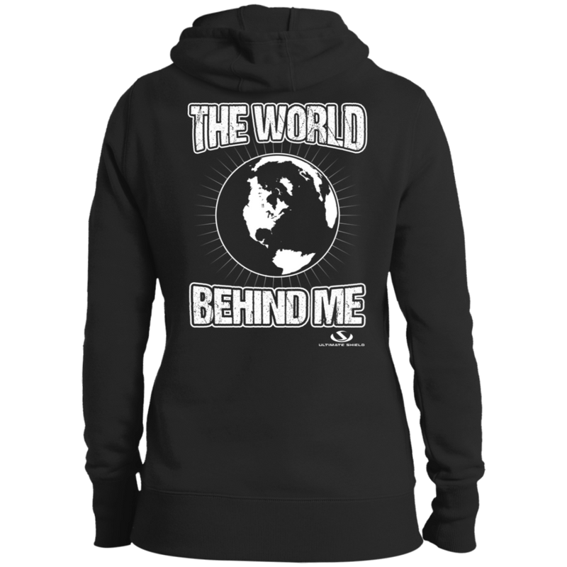 THE WORLD BEHIND ME Ladies' Pullover Hooded Sweatshirt