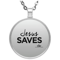 JESUS SAVES Circle Necklace