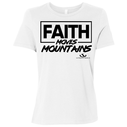 FAITH MOVES MOUNTAINS Ladies' Relaxed Jersey Short-Sleeve T-Shirt