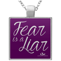 FEAR IS A LIAR Square Necklace