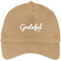 GRATEFUL Five Panel Twill Cap
