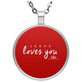 JESUS LOVES YOU Circle Necklace