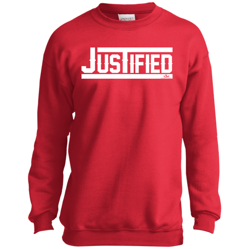 JUSTIFIED Youth Crewneck Sweatshirt