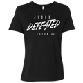 JESUS DEFEATED SATAN Ladies' Relaxed Jersey Short-Sleeve T-Shirt