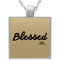 BLESSED Square Necklace