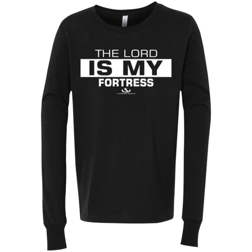 THE LORD IS MY FORTRESS Youth Jersey LS T-Shirt