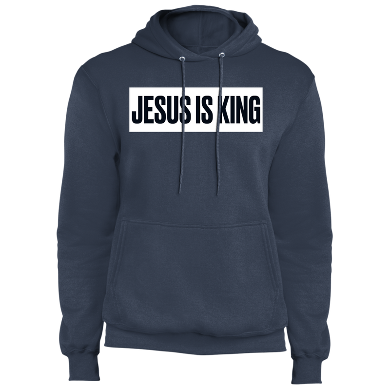 JESUS IS KING Core Fleece Pullover Hoodie