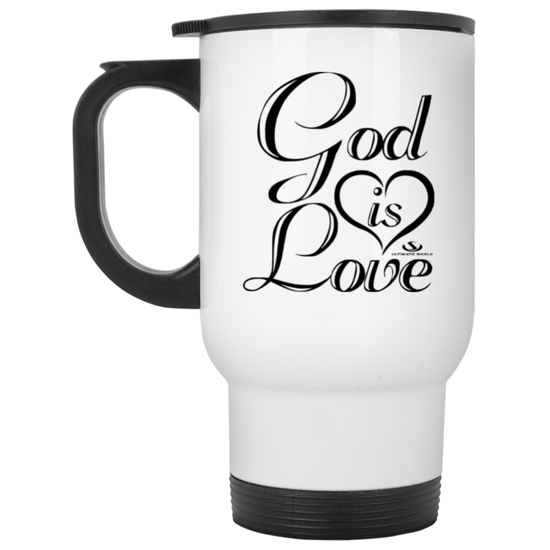 GOD IS LOVE White Travel Mug