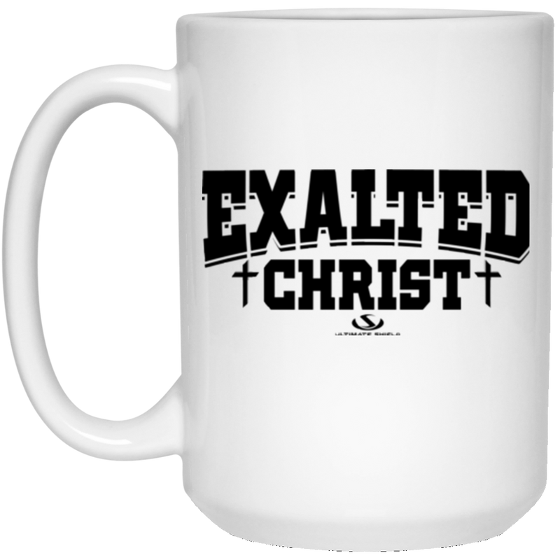EXALTED CHRIST 15 oz. White Mug