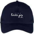 JESUS LOVES YOU Five Panel Twill Cap