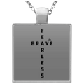 FEARLESS BRAVE Square Necklace