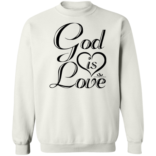 GOD IS LOVE LADIES Crewneck Pullover Sweatshirt  8 oz.