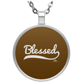 BLESSED Circle Necklace