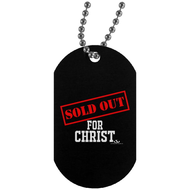 SOLD OUT FOR CHRIST Silver Dog Tag