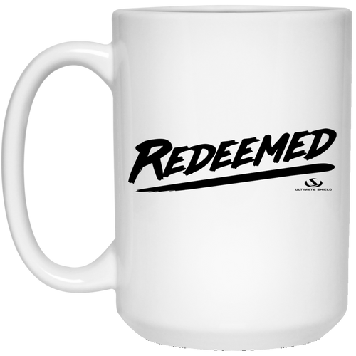 REDEEMED 15 oz. White Mug