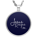 JESUS REIGNS Circle Necklace