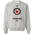 IT IS FINISHED LADIES Crewneck Pullover Sweatshirt  8 oz.