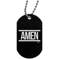 AMEN Silver Dog Tag