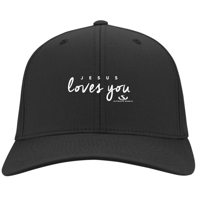 JESUS LOVES YOU Dry Zone Nylon Cap