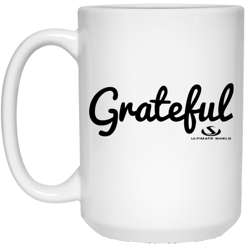GRATEFUL 15 oz. White Mug