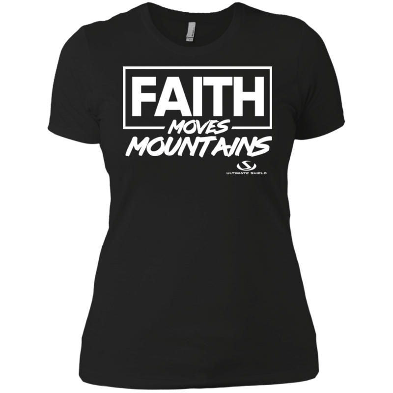 FAITH MOVES MOUNTAIN Ladies' Boyfriend T-Shirt