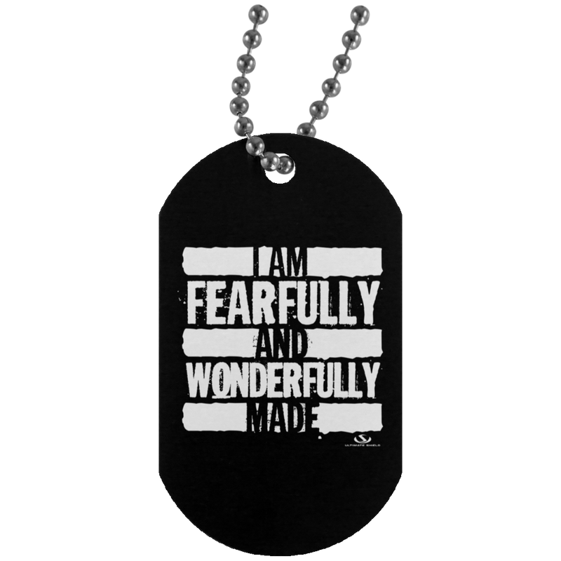 I AM FEARFULLY AND WONDERFULLY MADE Silver Dog Tag