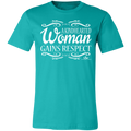 A KINDHEARTED WOMAN GAINS RESPECT WHITE PRINT Unisex Jersey Short-Sleeve T-Shirt