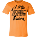 A WIFE OF NOBLE CHARACTER WHO CAN FIND BLACK PRINT Unisex Jersey Short-Sleeve T-Shirt