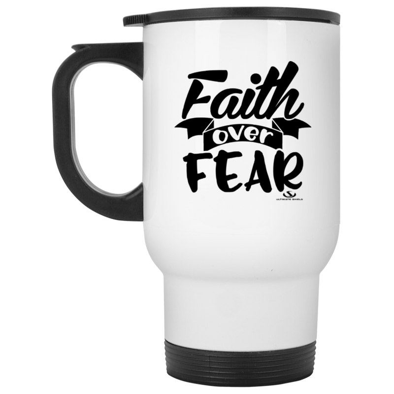 JESUS TRIUMPH OVER DEATH White Travel Mug
